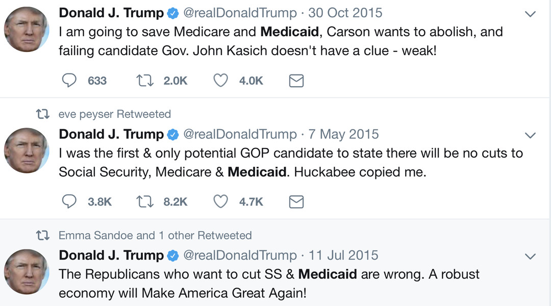 Image result for trump medicaid