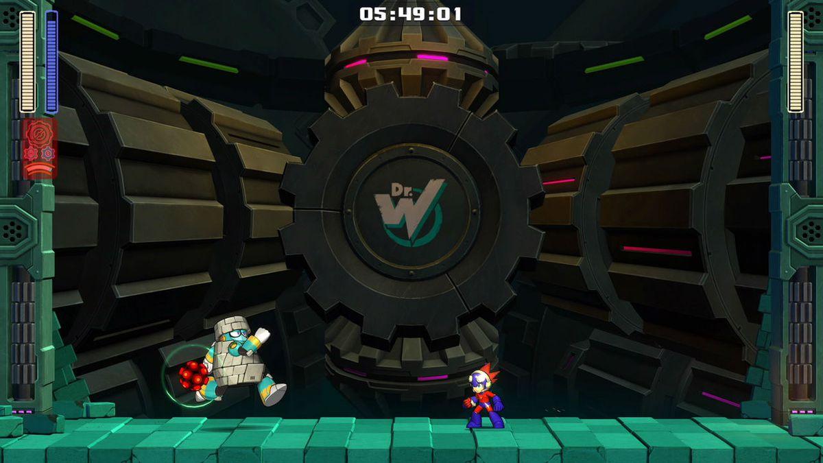Mega Man 11 block man