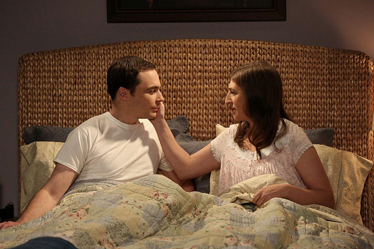 Sheldon (Jim Parsons) and Amy (Mayim Bialik) finally sleep together in the latest Big Bang Theory.