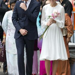 Prince William and his wife Kate, the Duke and Duchess of Cambridge take a walk through a central city park in Kuala Lumpur, Malaysia, Friday, Sept. 14, 2012. Prince William and Kate are on a nine-day tour of the Far East and South Pacific in celebration of Queen Elizabeth II's Diamond Jubilee.
