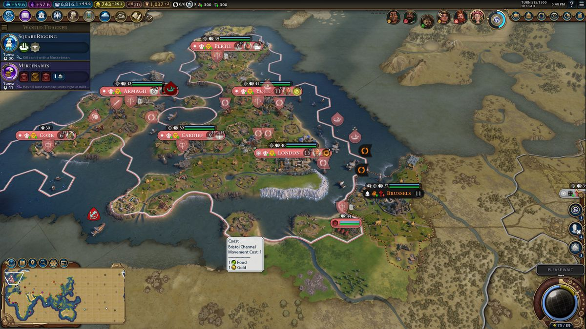 The joy of Civilization 6's giant, real world maps   Polygon