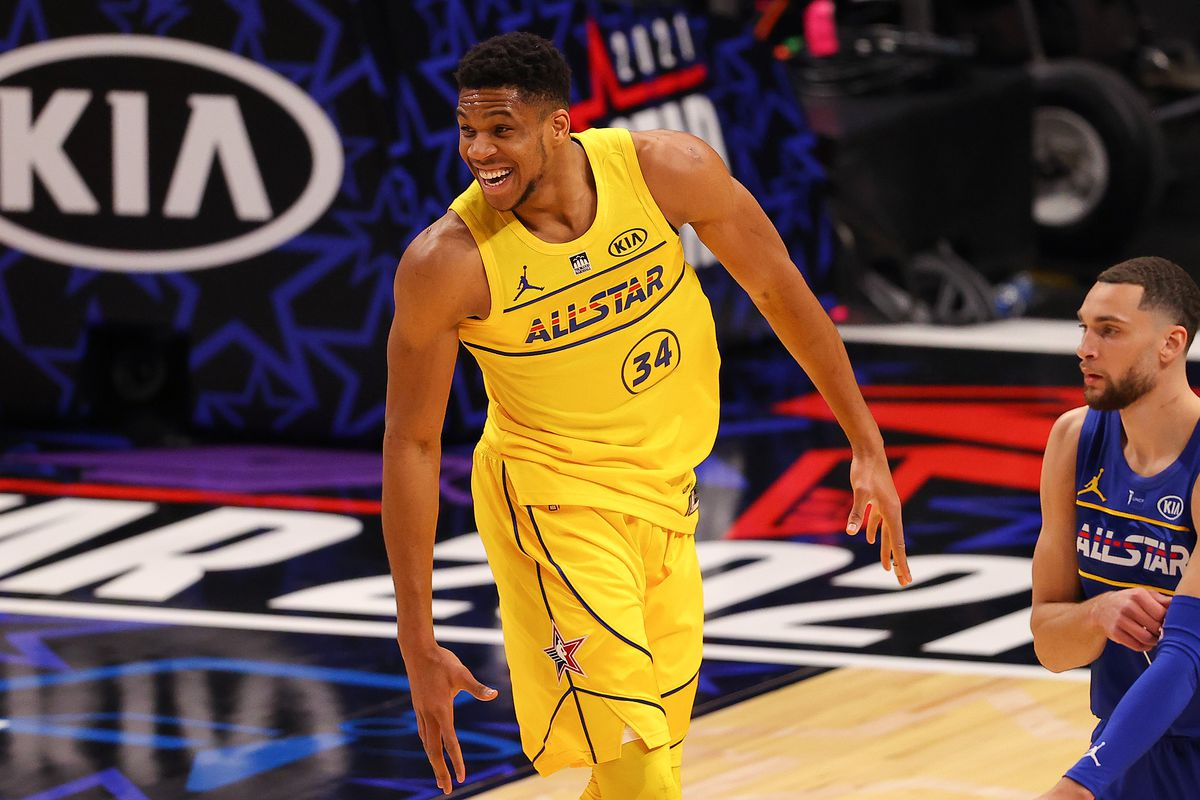 2021 Nba All Star Game Mvp Winner Giannis Finishes With 35 Points In Team Lebron Victory Draftkings Nation