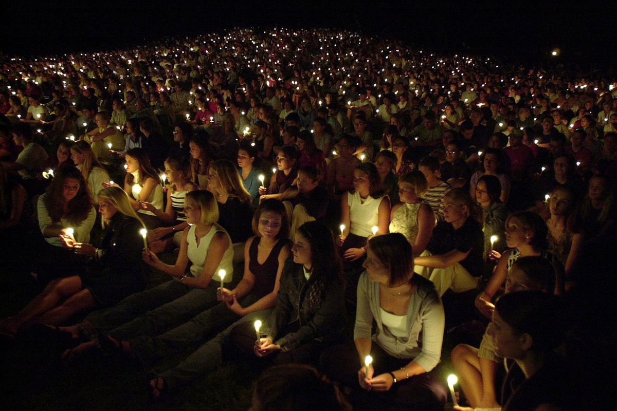 Thousands packed the Engineering Mall in a candlelight vigil for Andrew Boldt.
