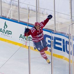 Ovechkin Celebrates His First Winter Classic Goal