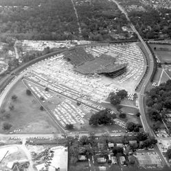 <strong>1964- Aerial views of Doak Campbell Stadium during a football game</strong>