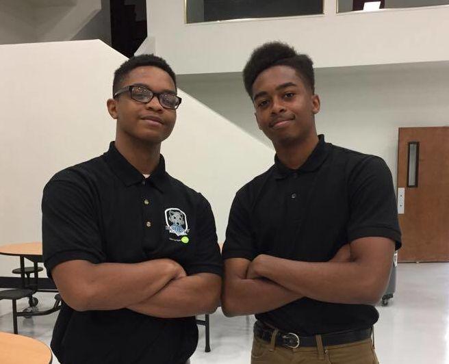 Darryl Buchanan and Adarrius Hicks are founding class members of Bluff City High School.