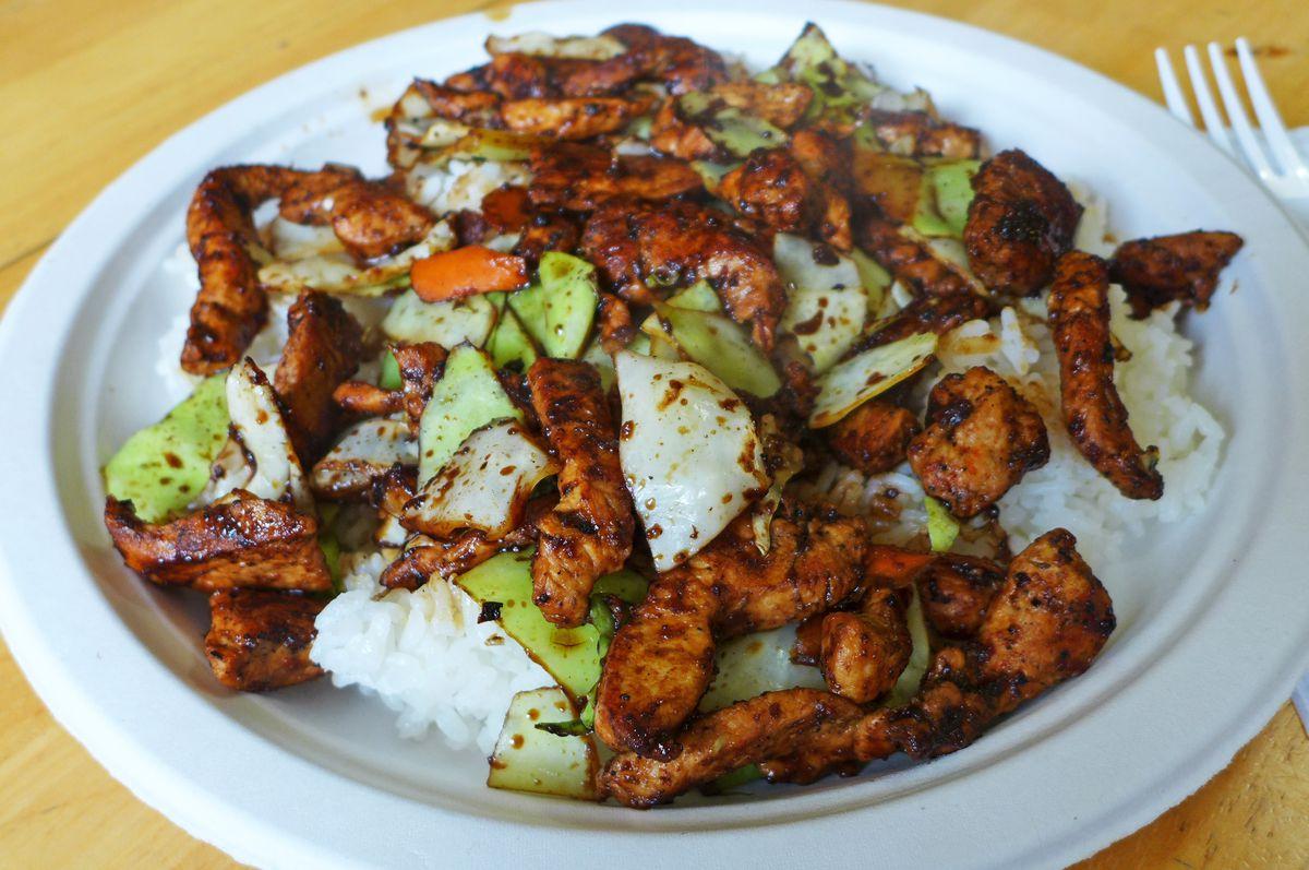 Seven's chicken teriyaki is its specialty.