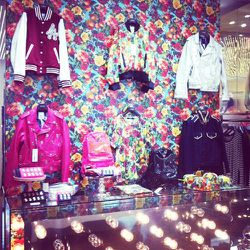 A wall lined with Joyrich's spring 2012 collection.