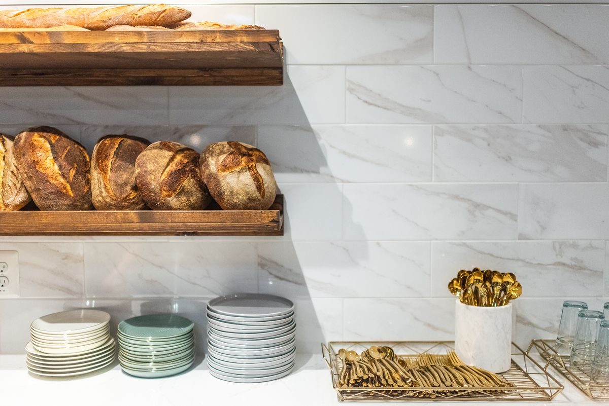 Loaves of bread from Sunday Morning Bakehouse