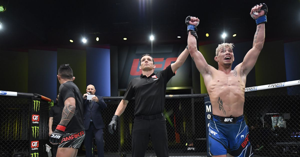 Kai Kamaka's manager filing appeal over 'blatantly horrible decision' in his loss to T.J. Brown at UFC Vegas 25 thumbnail