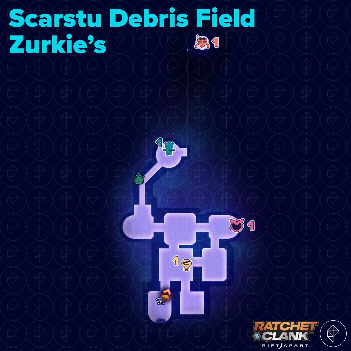 Ratchet & Clank: Rift Apart collectibles guide: Scarstu Debris Field Zurkie's