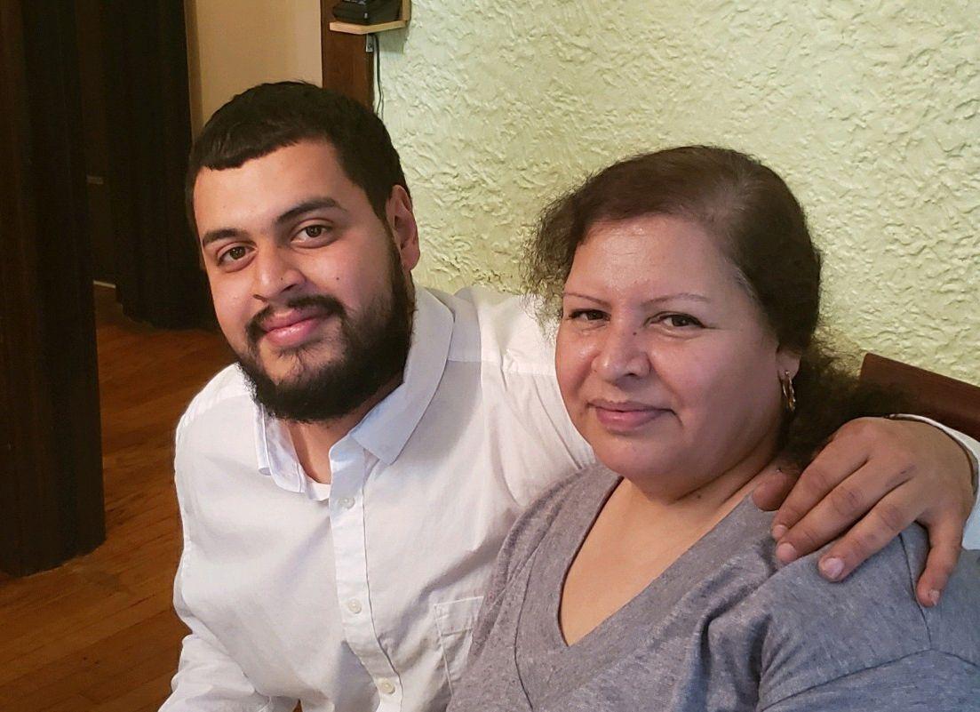 Jesus Alberto Lopez Gutierrez with his mother Lordes Gutierrez.