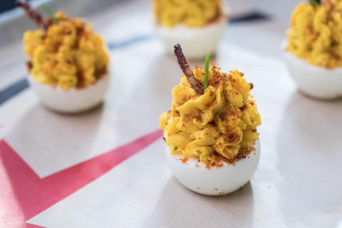 Deviled eggs at The Crack Shack