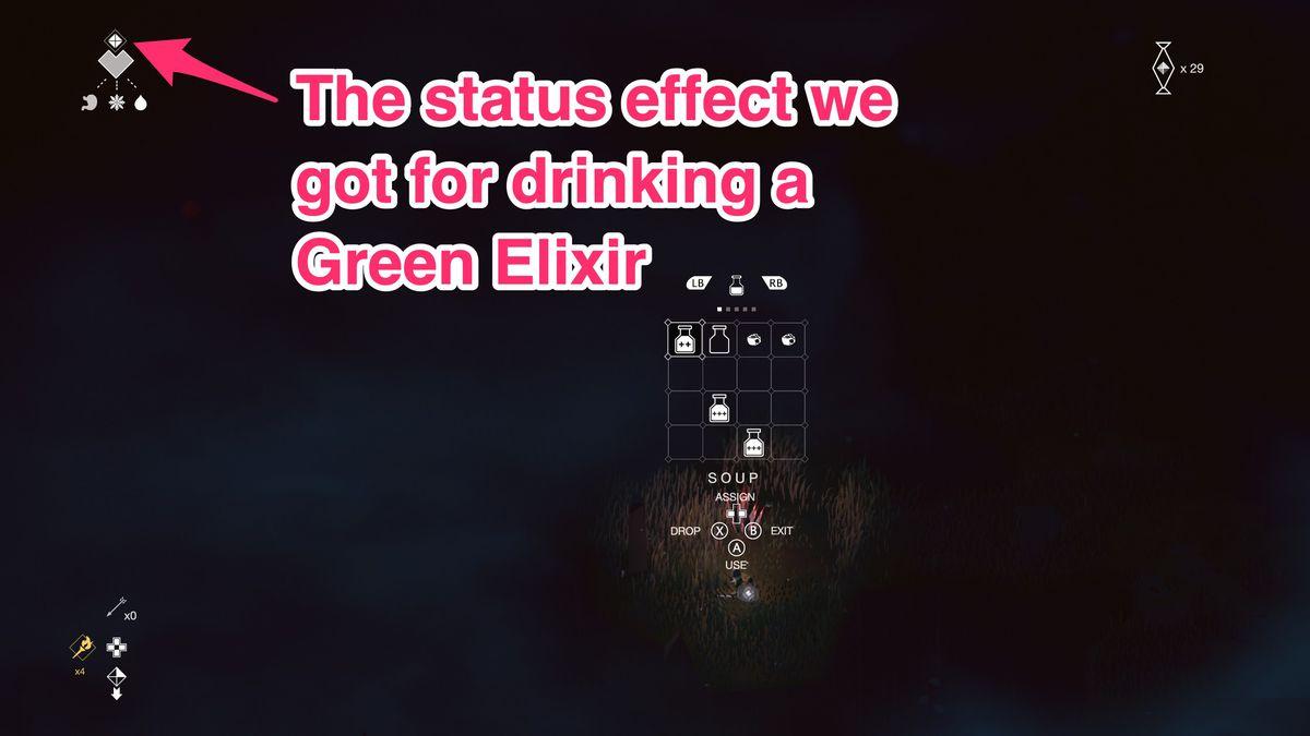 below status effect icon green elixir - fortnite crafting recipes