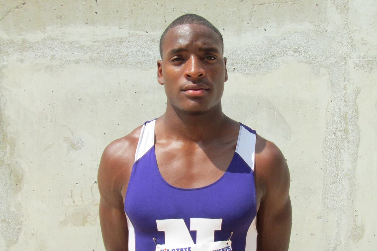 Kevin Shorter at the 2013 Texas state track meet