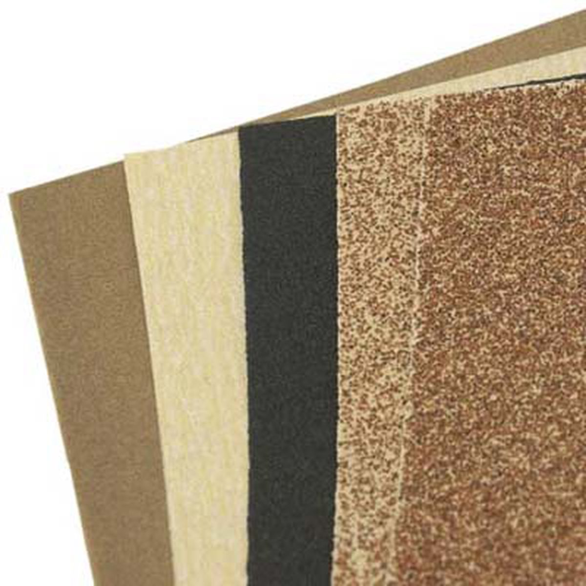 Sandpaper used to smooth edges to give the houses a real life look