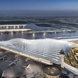 Terminal proposal by Santiago Calatrava | Courtesy of City of Chicago