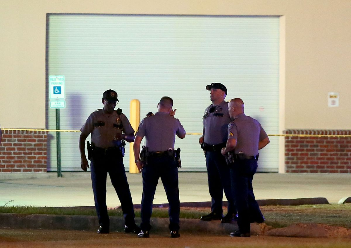 Police officers in Baton Rouge.