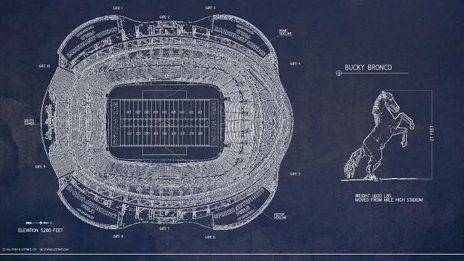 This mile high stadium blueprint poster is pretty awesome mile this mile high stadium blueprint poster is pretty awesome mile high report malvernweather Gallery