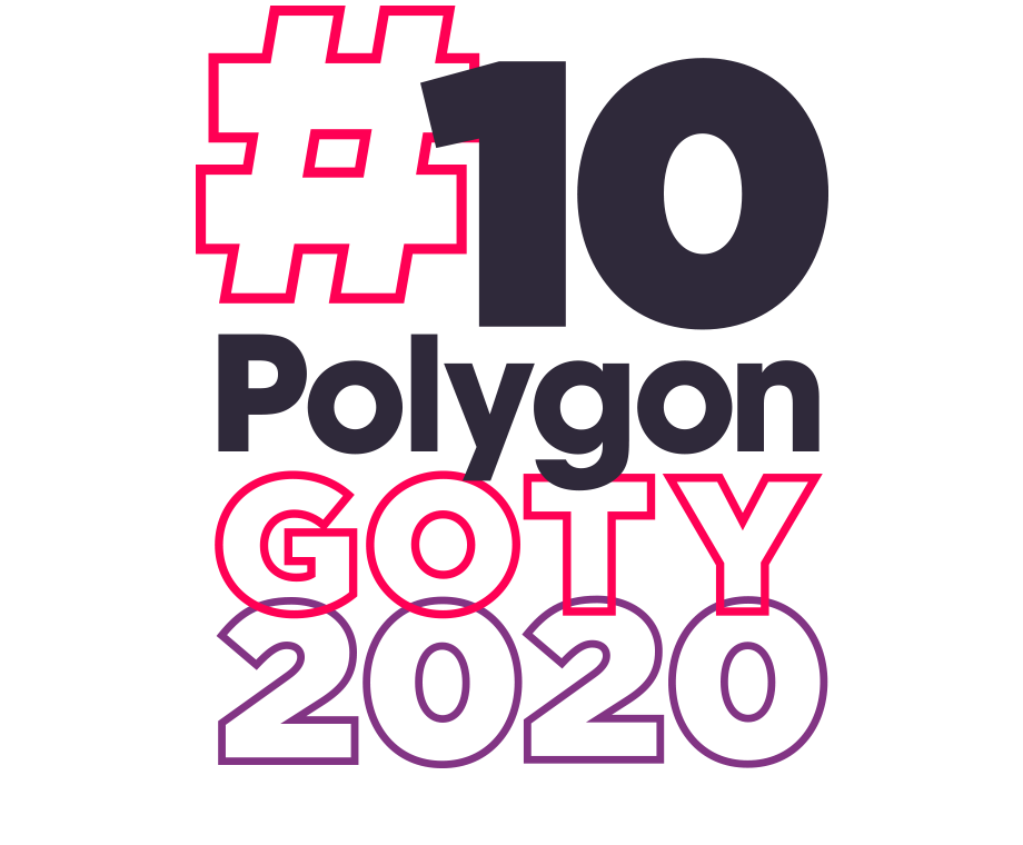 Graphic layout of the words #10 Polygon GOTY 2020