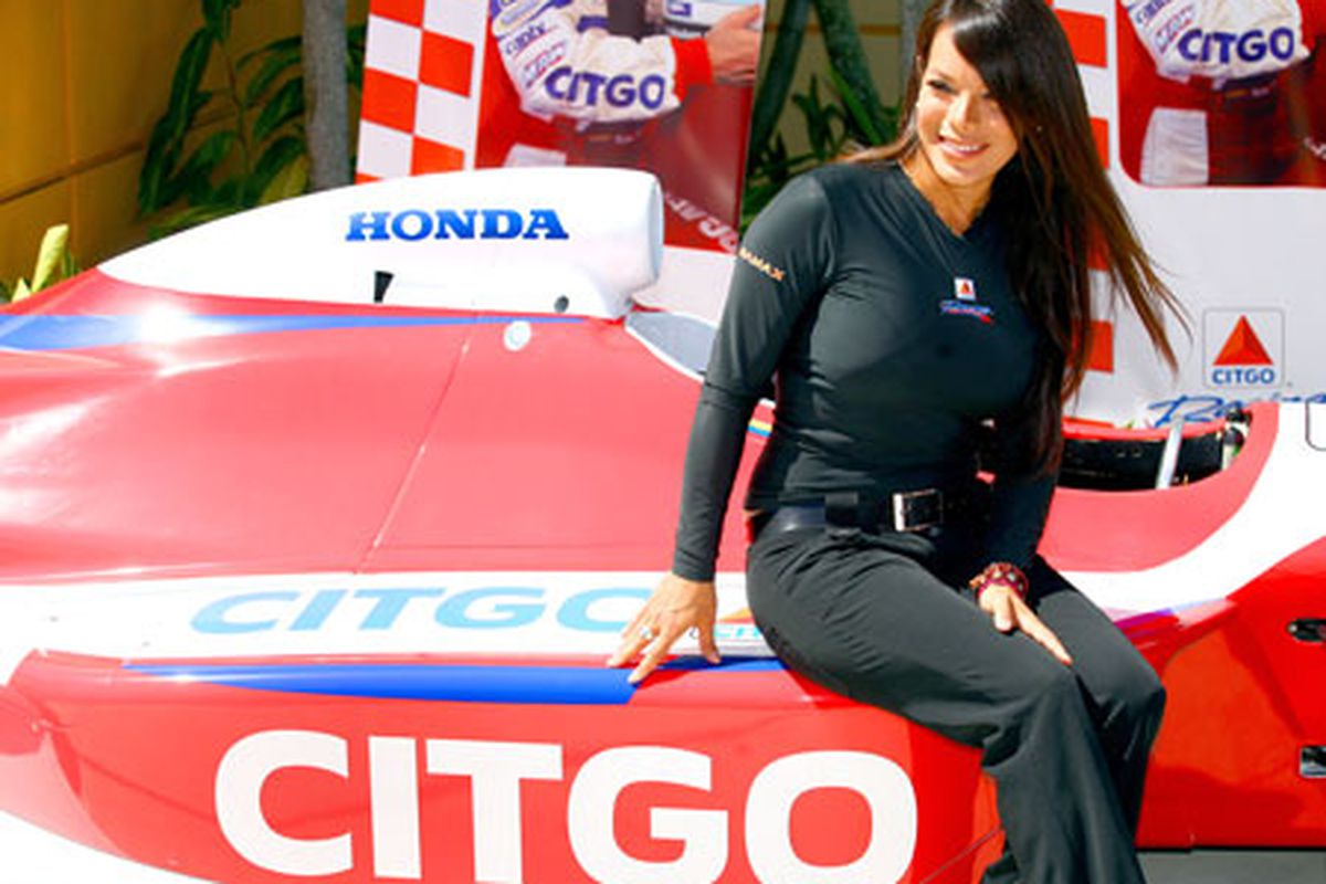 Milka Duno signed with Dale Coyne Racing for the 2010 IZOD IndyCar Series season - a race seat that could have gone to Graham Rahal (Photo: St. Petersburg Times)