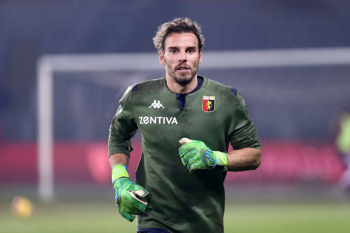 Federico Marchetti of Genoa Cfc during the Coppa Italia...