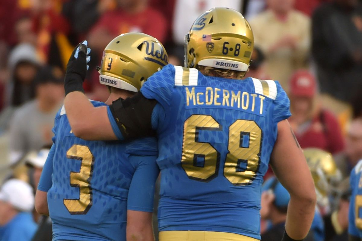 Left tackle Conor McDermott will be charged with protecting his quarterback's blind side.