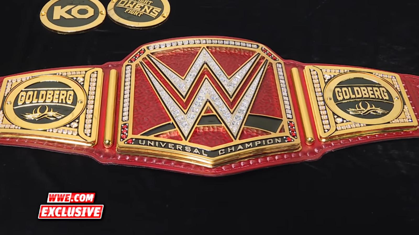 Goldberg Gets Custom Side Plates On Universal Championship