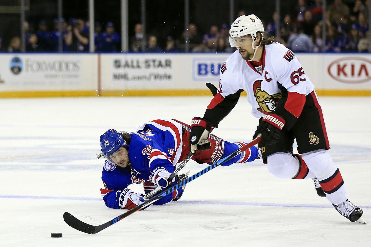 NHL: Ottawa Senators at New York Rangers