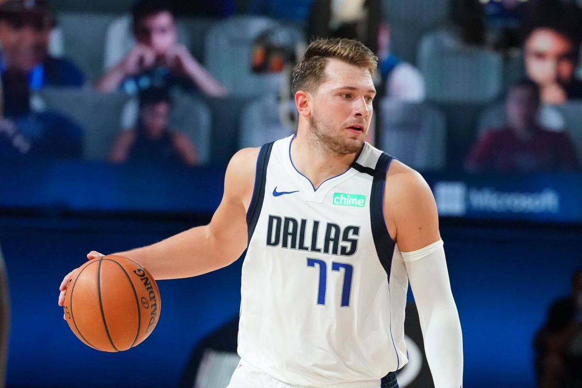 Luka Doncic #77 of the Dallas Mavericks handles the ball against the LA Clippers during Round One, Game Six of the NBA Playoffs on August 30, 2020 at the AdventHealth Arena at ESPN Wide World Of Sports Complex in Orlando, Florida.