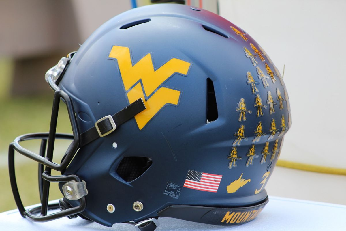 WVU Helmet