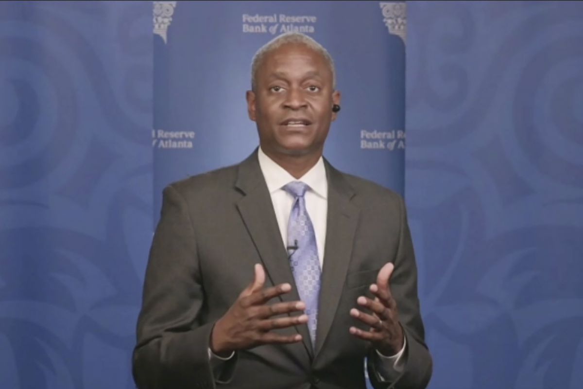 Raphael Bostic, president of the Federal Reserve Bank of Atlanta, who is the first Black president of a regional Fed bank in the system's 108-year history.