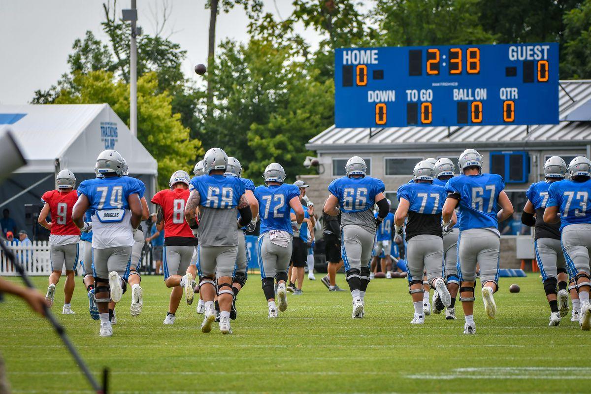 NFL: AUG 06 Lions - Patriots Joint Training Camp