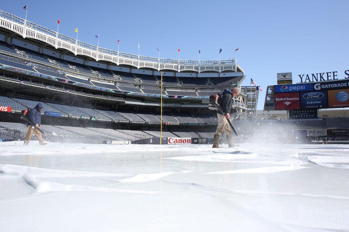 New York Yankees V Chicago Cubs. Double Header Game One. Yankee Stadium, The Bronx, New York.