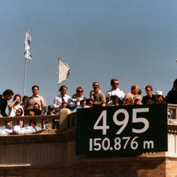 A measurement from home plate to a rooftop -- back before rooftops were big business