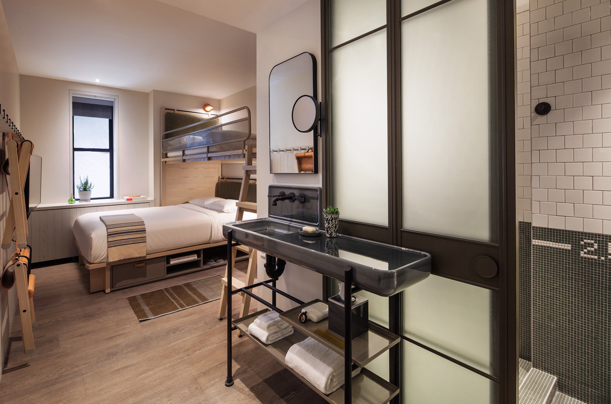 Bare Bones Furniture >> Moxy Hotels launches its NYC flagship in a landmarked