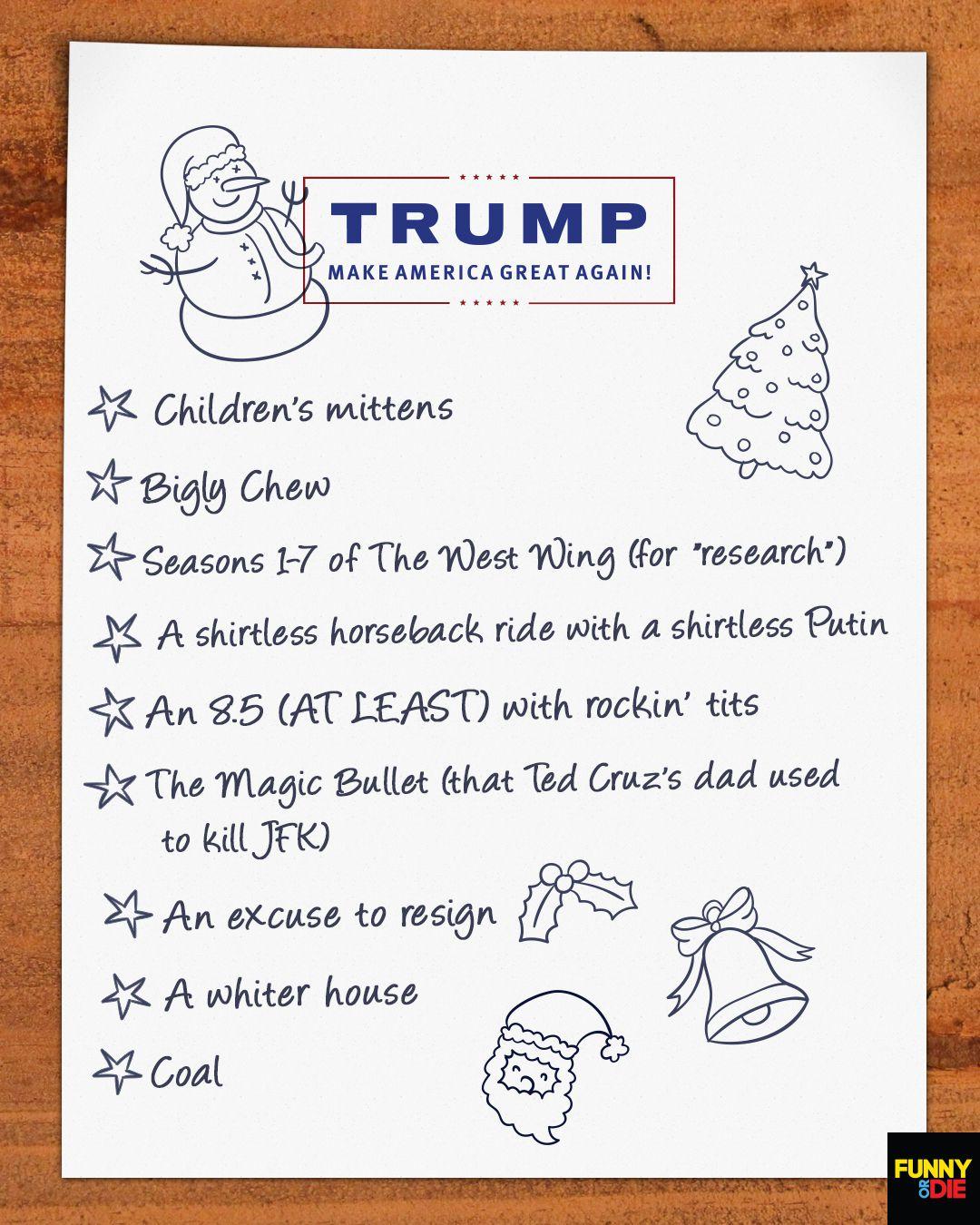 things on trumps christmas list