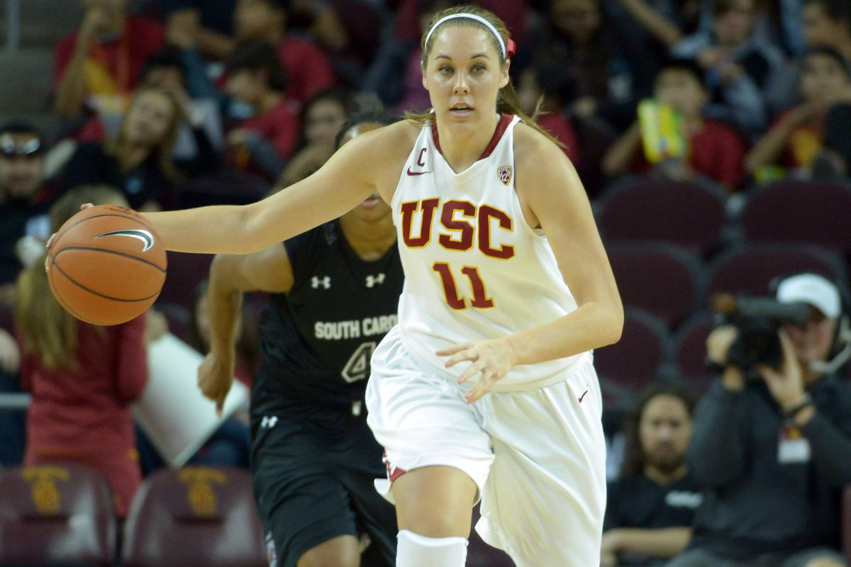 Senior Cassie Harberts could play a big role for USC in a big game today against Cal.