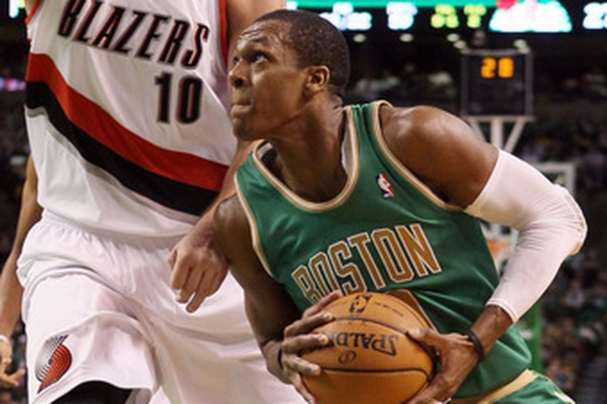 Rajon Rondo plays in Portland sometimes, but not for the home team.