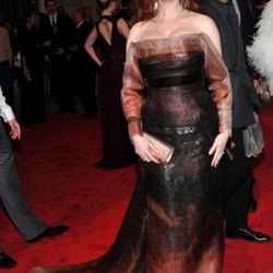 Christina Hendricks in…does it matter? Why does her stylist hate her so much?