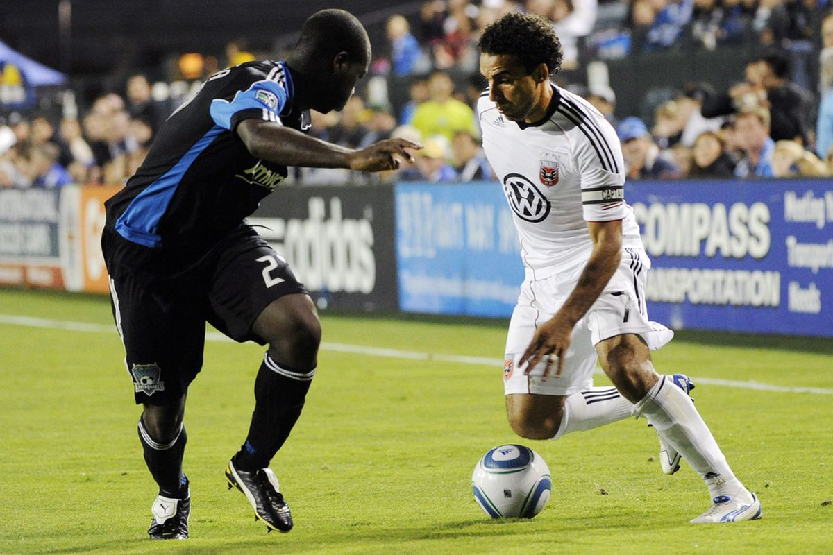 Dwayne De Rosario scored two goals against the Earthquakes on Saturday