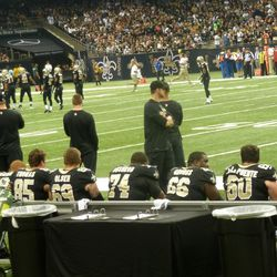 A lot of guys on the bench at once.