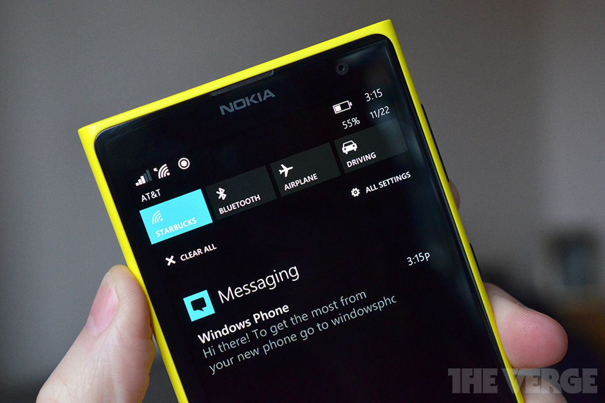 Windows Phone 8 1 Notification Center revealed in leaked screenshots