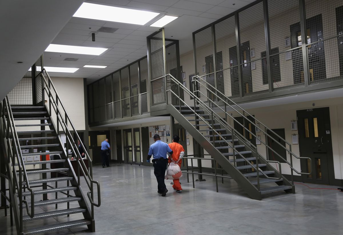 An immigrant detention facility.