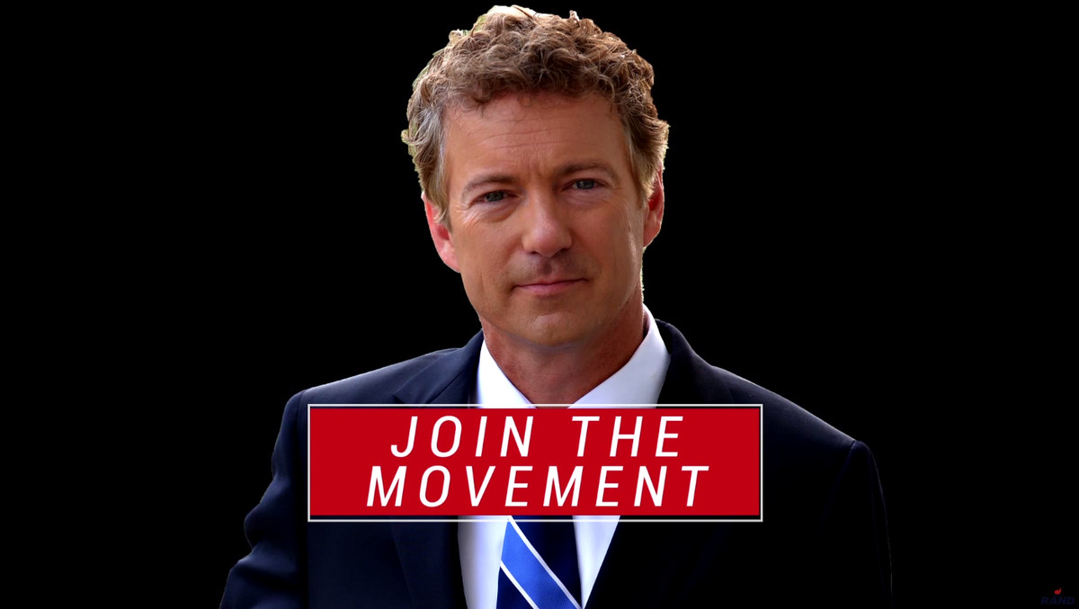 Here's how Rand Paul's video ends.