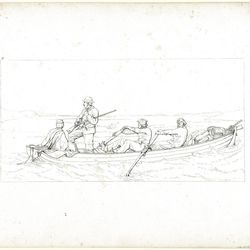 """""""Marylanders Crossing the Potomac to Join the Southern Army"""" (1864 is a transfer lithograph created by dentist, artist and Southern sympathizer Abalbert Volck during the American Civil War. The work is currently on view in an exhibition, """"The Confederate Sketches of Adalbert Volck,"""" at the Smithsonian Insititution's National Portrait Gallery through Jan. 21, 2013."""