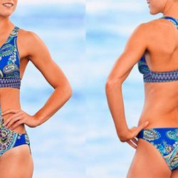 """Kicky cutouts but good butt coverage and a tank back make this Athleta suit a natural. $89 at <a href=""""http://athleta.gap.com/browse/product.do?cid=46669&vid=1&pid=841319"""" rel=""""nofollow"""">Athleta</a>"""