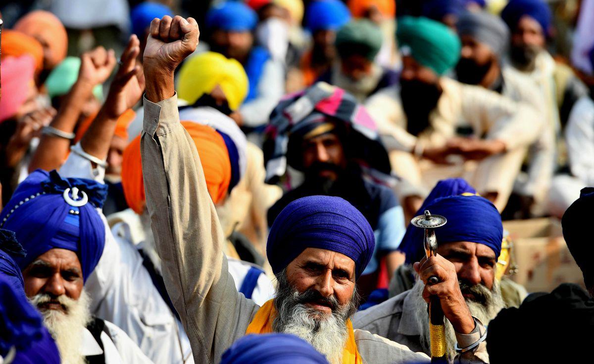 INDIA-NEW DELHI-FARMERS-PROTEST