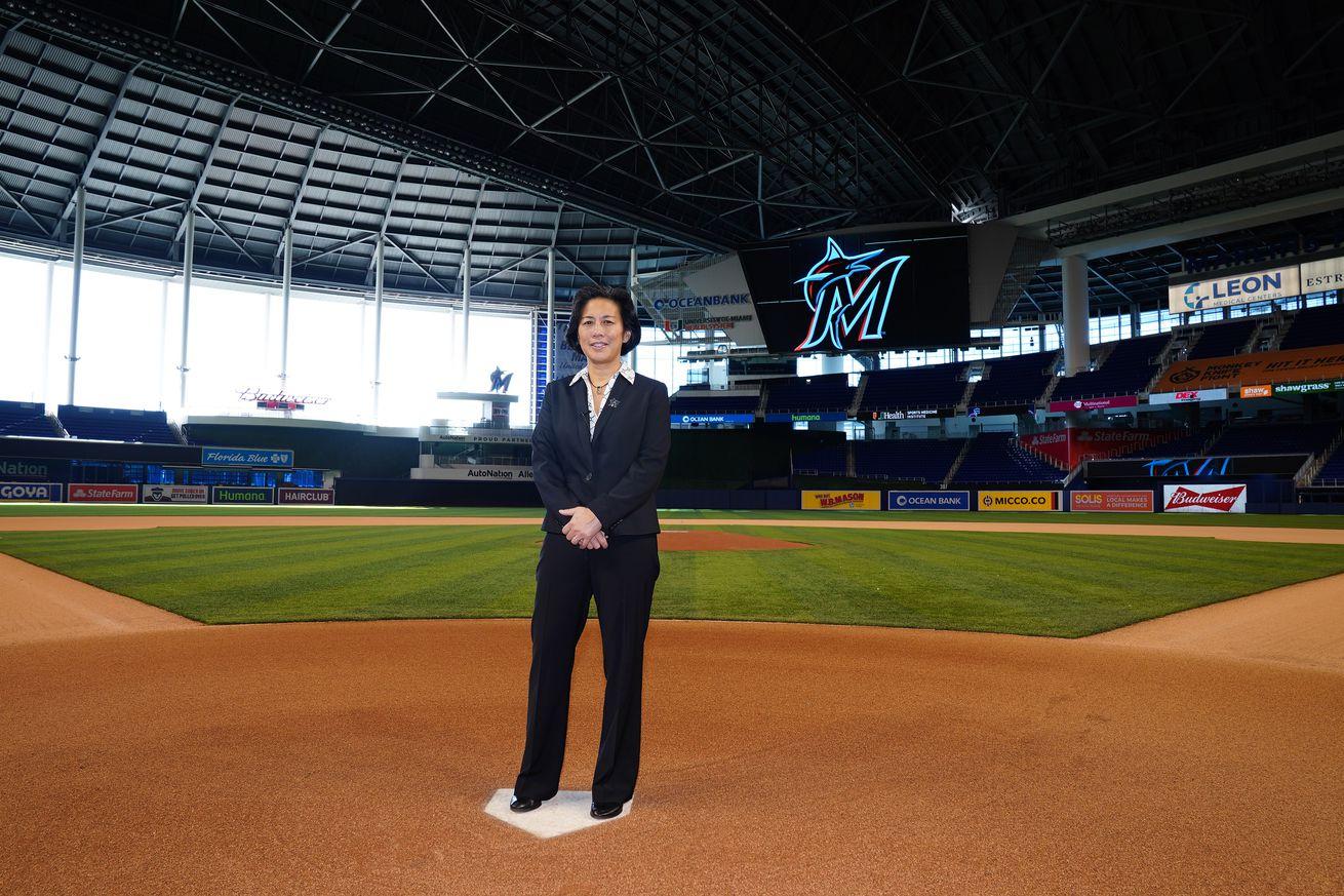 MLB: Kim Ng at Marlins Park