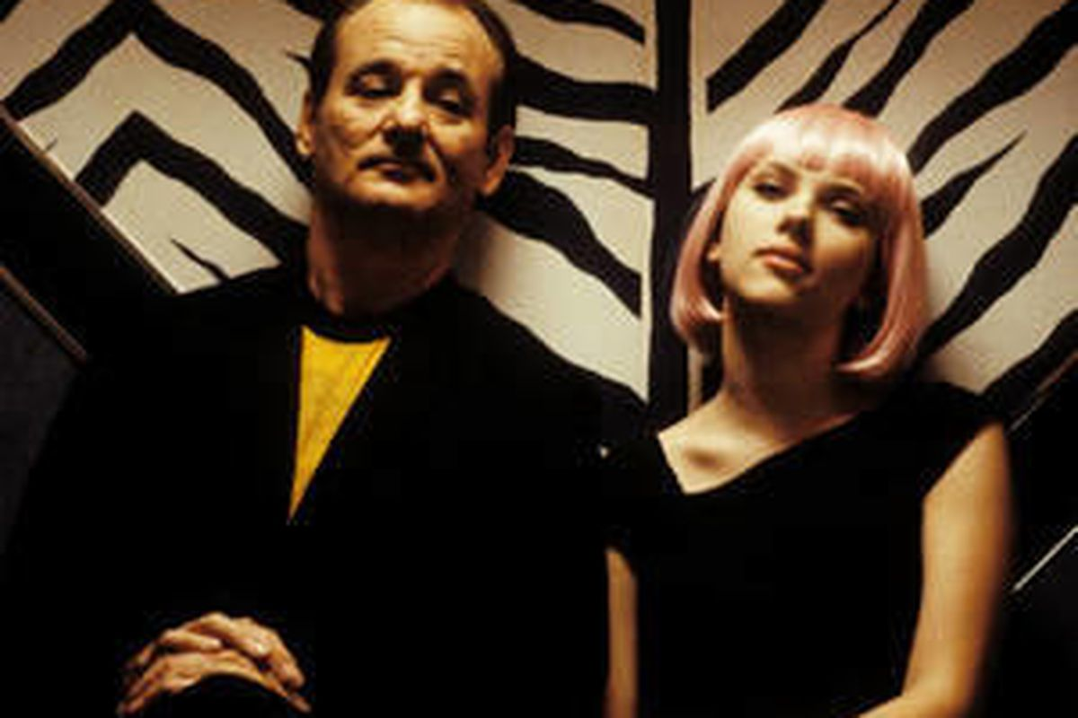 """Bill Murray (left) and Scarlett Johansson star in Sofia Coppola's """"Lost in Translation,"""" a Focus Features release."""